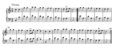 "Theme from 12 Variations from the French Song ""Vous dirai-je Maman"", Mozart"