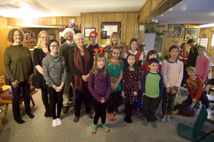 Christmas recital group